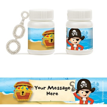 Pirate Personalized Bubbles (18 Pack)