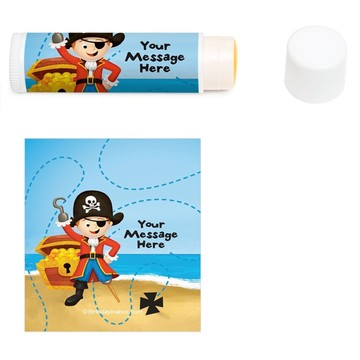 Pirate Personalized Lip Balm (12 Pack)