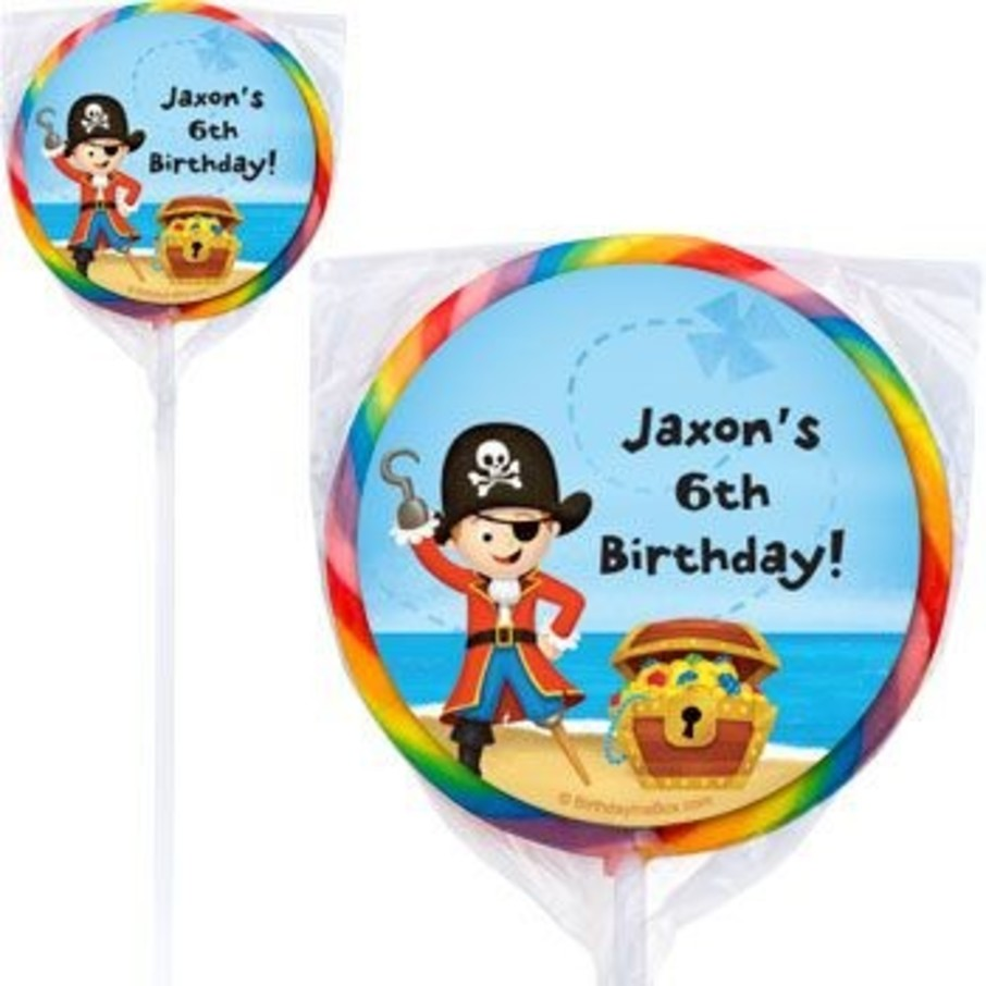 View larger image of Pirate Personalized Lollipops (pack of 12)