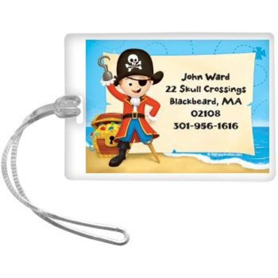 View larger image of Pirate Personalized Luggage Tag (each)