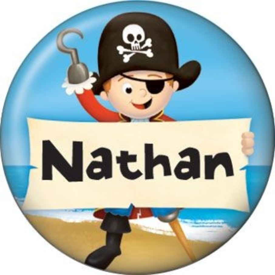 View larger image of Pirate Personalized Mini Button (each)