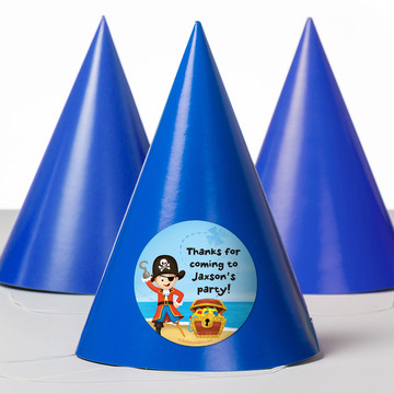 Pirate Personalized Party Hats (8 Count)