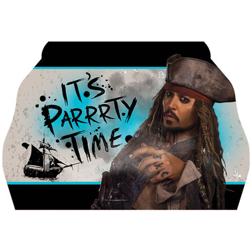 Pirates of the Caribbean Postcard Invitations (8 Count)