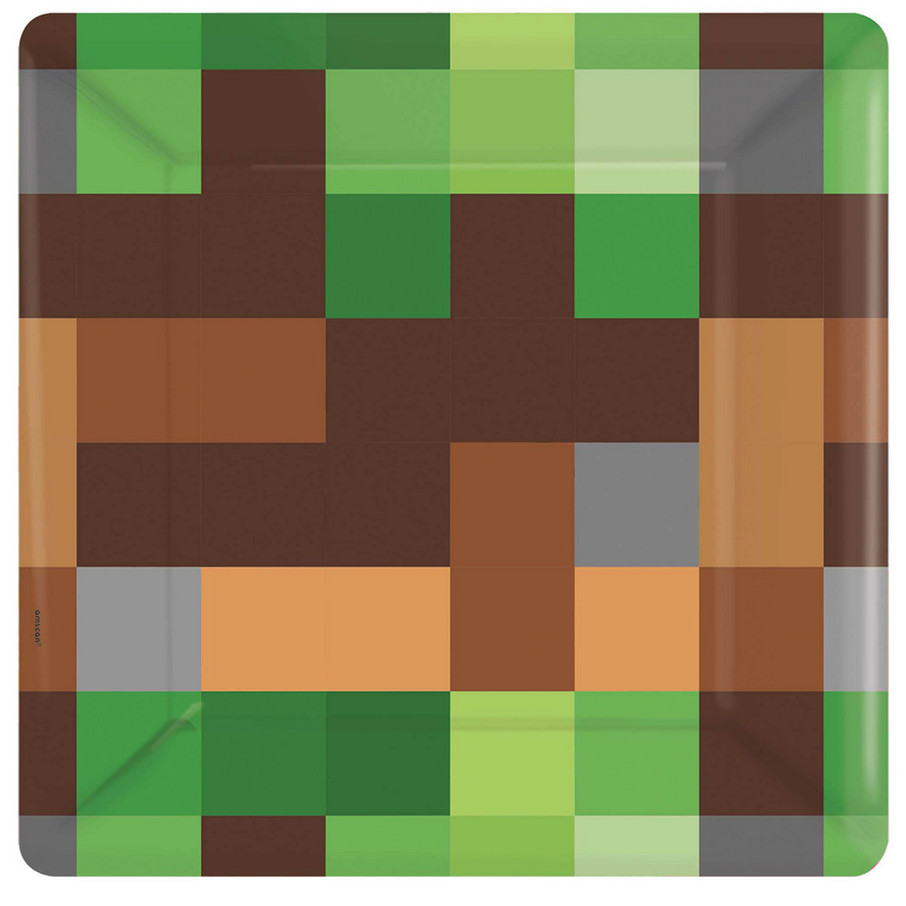 View larger image of Pixelated Square Dessert Plates (8)