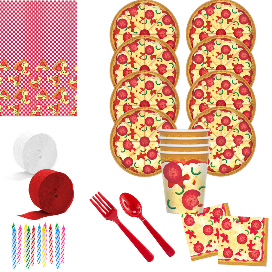 View larger image of Pizza Party Deluxe Tableware Kit (Serves 8)