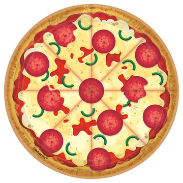 Pizza Party Dessert Plates (8)