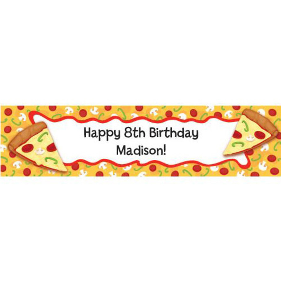 View larger image of Pizza Party Personalized Banner (each)