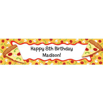 Pizza Party Personalized Banner (each)