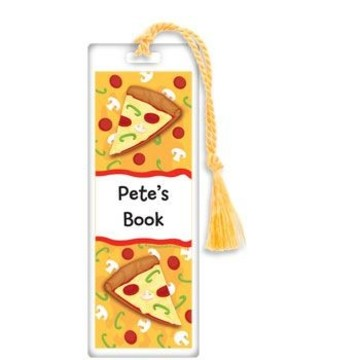 Pizza Party Personalized Bookmark (each)