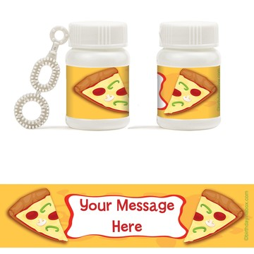 Pizza Party Personalized Bubbles (18 Pack)