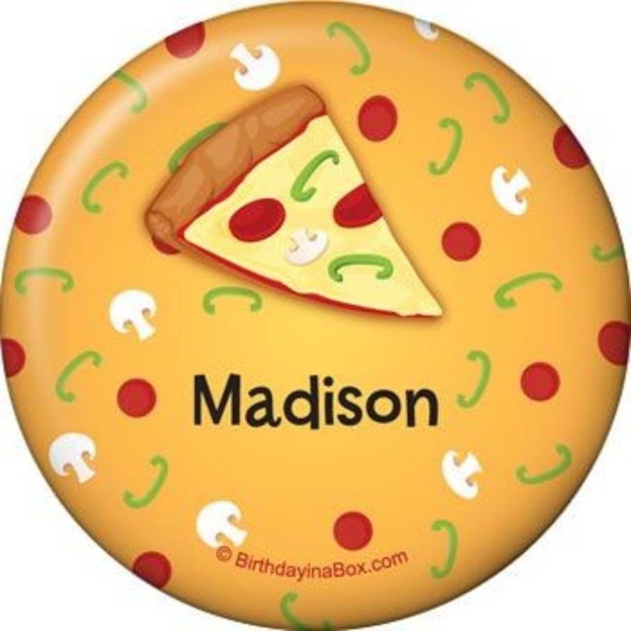 View larger image of Pizza Party Personalized Button (each)