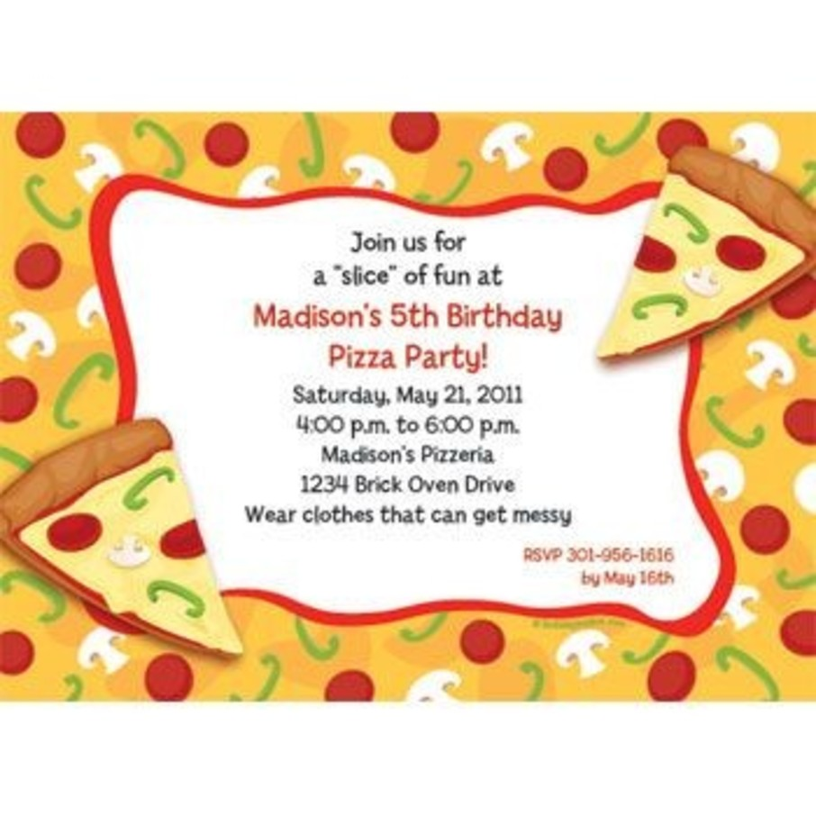 View larger image of Pizza Party Personalized Invitation (each)