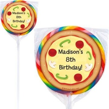 Pizza Party Personalized Lollipops (pack of 12)