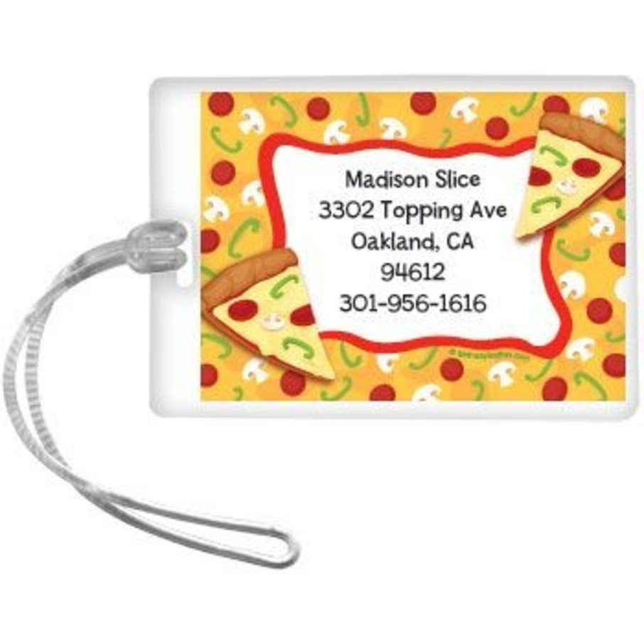 View larger image of Pizza Party Personalized Luggage Tag (each)