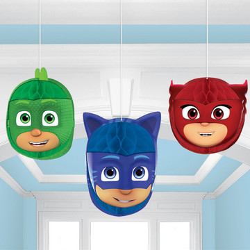 PJ Masks Honeycomb Decorations (3 Piece)