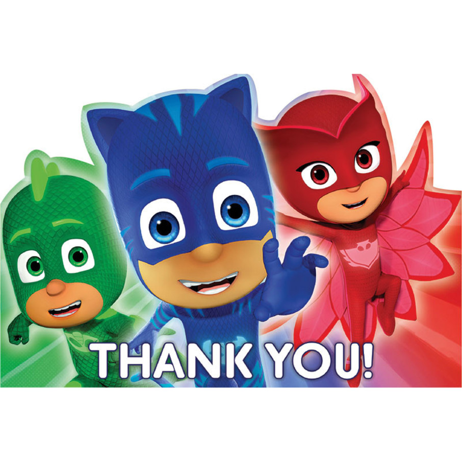 View larger image of PJ Masks Thank You Cards (8 Count)