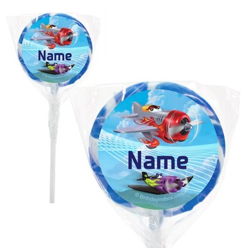 "Planes Personalized 2"" Lollipops (20 Pack)"