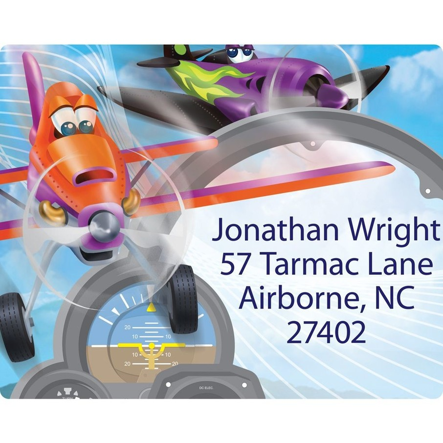 View larger image of Planes Personalized Address Labels (Sheet of 15)