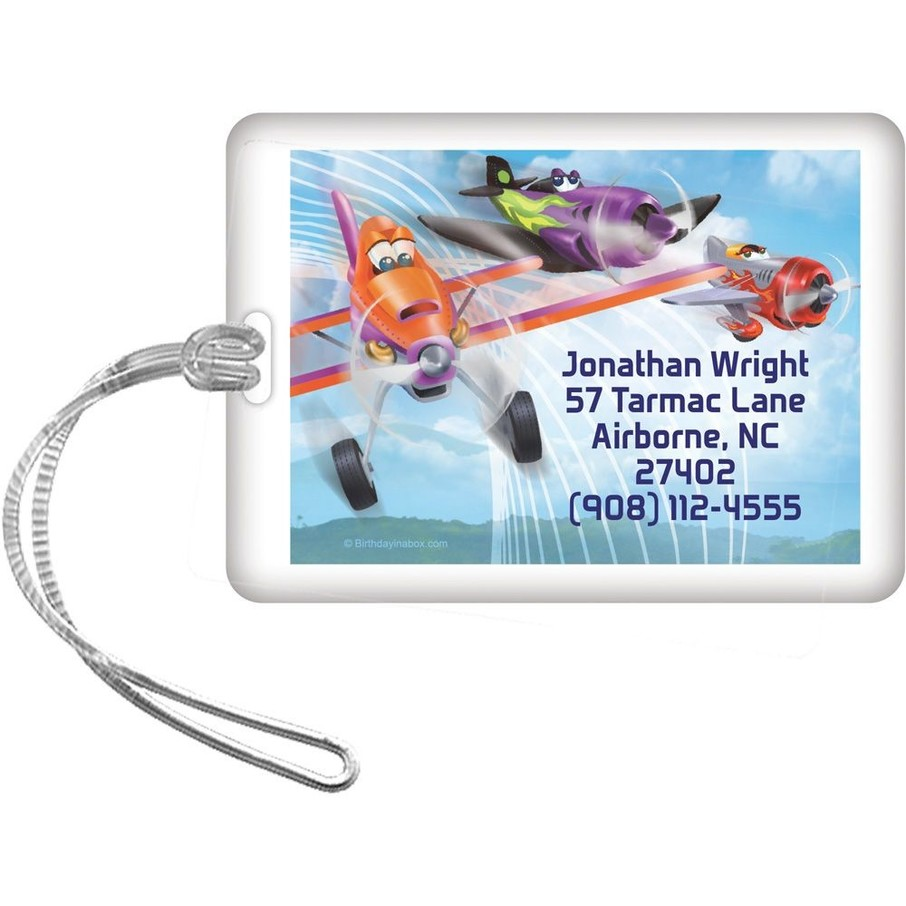 View larger image of Planes Personalized Luggage Tag (Each)
