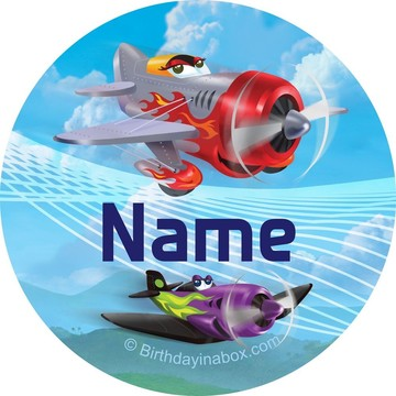 Planes Personalized Mini Stickers (Sheet of 24)