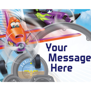 Planes Personalized Rectangular Stickers (Sheet of 15)