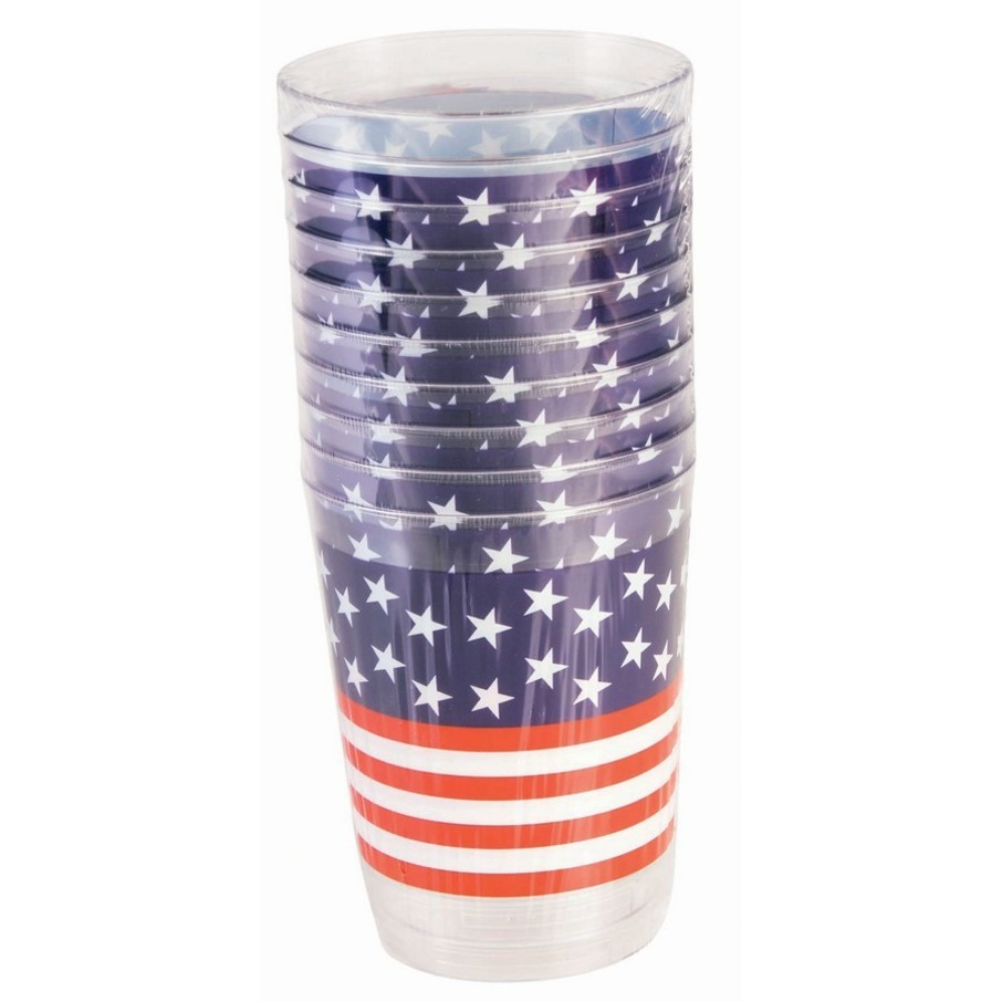 View larger image of Plastic Patriotic Tall Tumbler (10 Count)