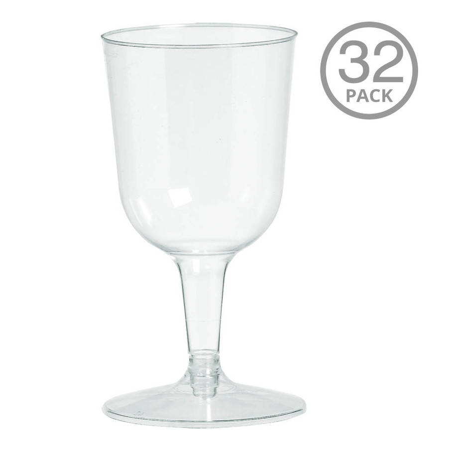 View larger image of Plastic Wine Glasses 5.5oz (32 Pack)
