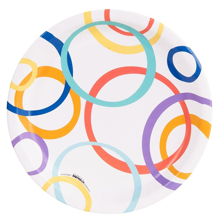 View larger image of Playful Pom Pom Circle Dinner Plate (8)