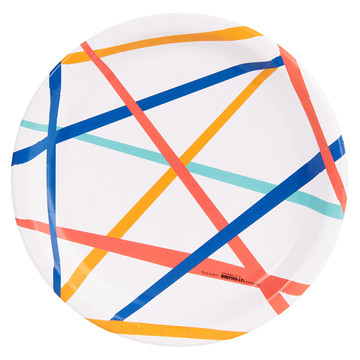 Playful Pom Pom Grid Dinner Plate (8)