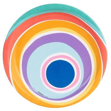 Playful Pom Pom Swirl Dinner Plate (8)