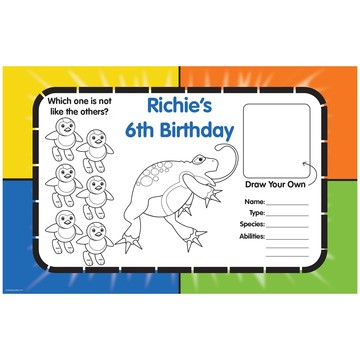 Pocket Monster Personalized Activity Mats (8-Pack)