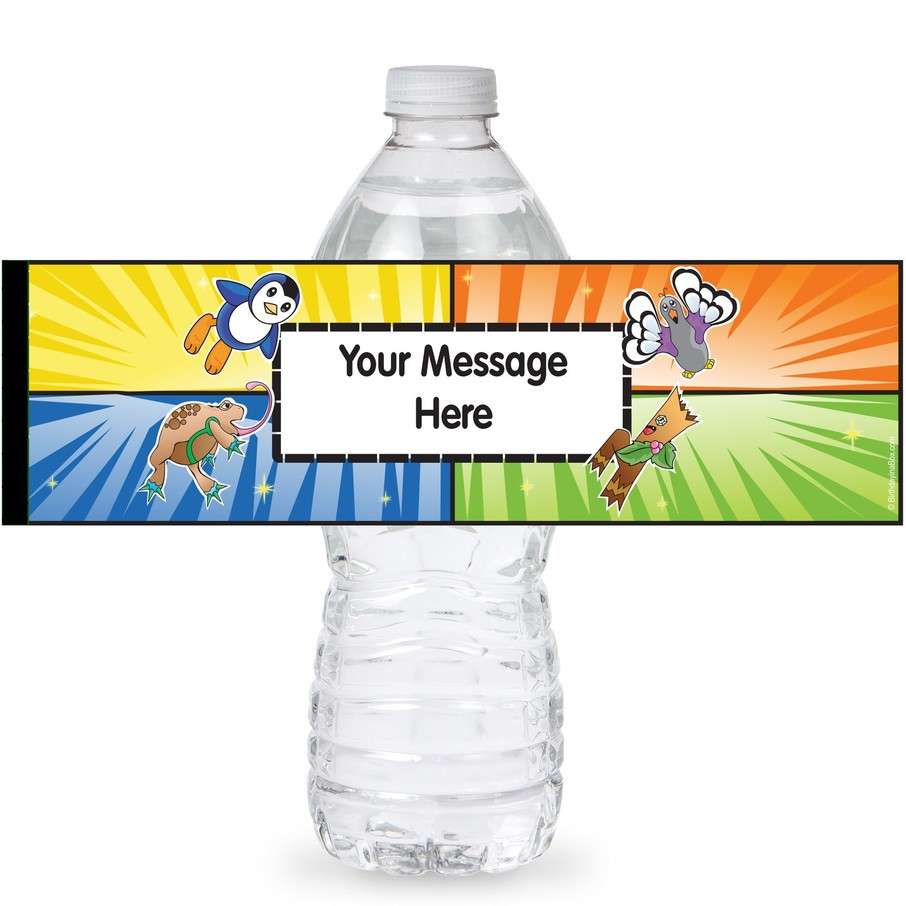 View larger image of Pocket Monsters Personalized Bottle Labels (Sheet of 4)