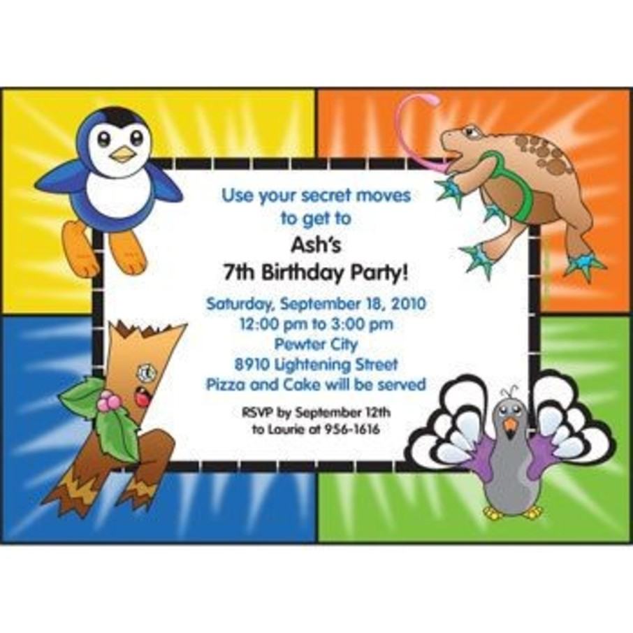 View larger image of Pocket Monsters Personalized Invitation (each)