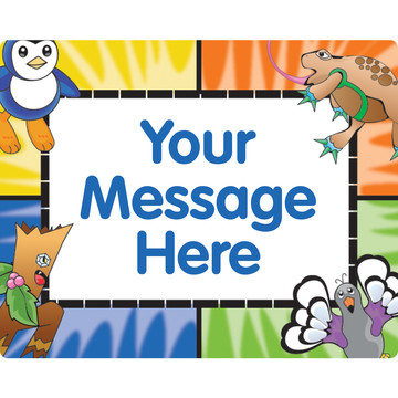 Pocket Monsters Personalized Rectangular Stickers (Sheet of 15)