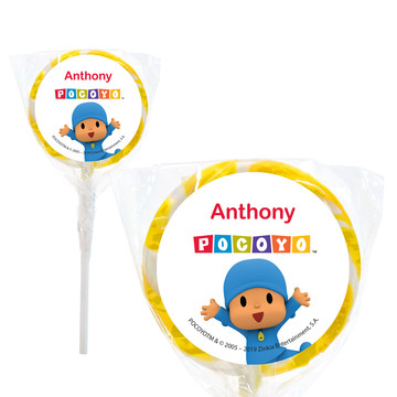 "Pocoyo Personalized 2"" Lollipops (20 Pack)"
