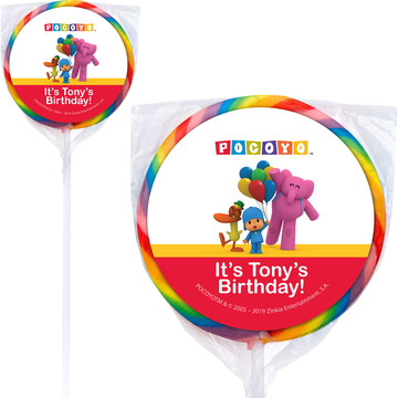 "Pocoyo Personalized 3"" Lollipops (12 Pack)"
