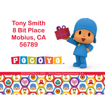 Pocoyo Personalized Rectangular Stickers (Sheet of 15)