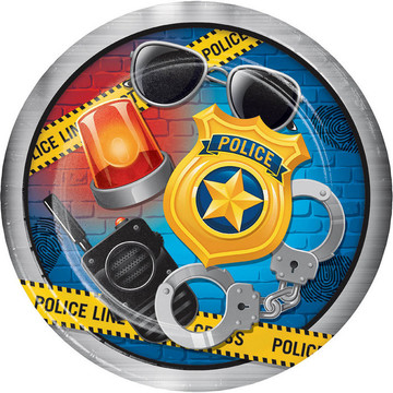 """Police Party 9"""" Dinner Plate (8)"""