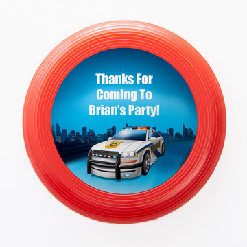 Police Personalized Mini Discs (Set of 12)