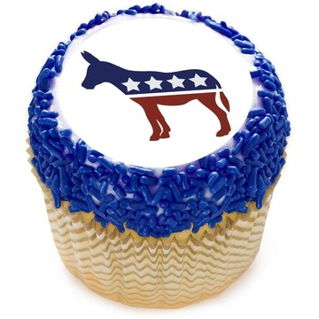 "Political Donkey 2"" Edible Cupcake Topper (12 Images)"