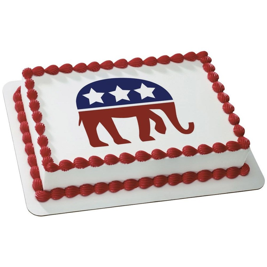 View larger image of Political Elephant Quarter Sheet Edible Cake Topper (Each)