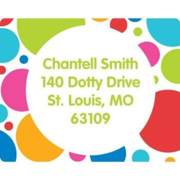Polka Dot Party Personalized Address Labels (sheet of 15)