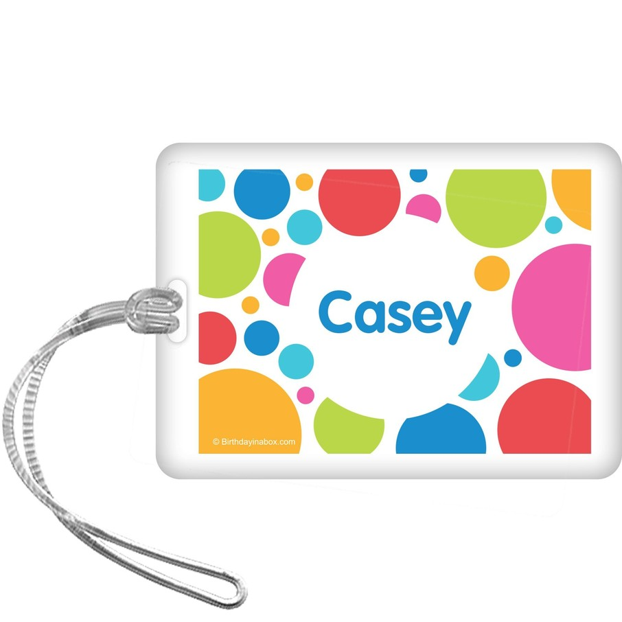 View larger image of Polka Dot Party Personalized Bag Tag (each)