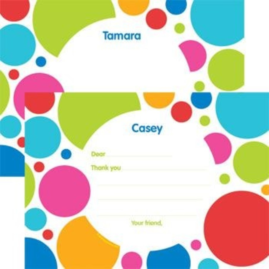 View larger image of Polka Dot Party Personalized Thank You Note (each)
