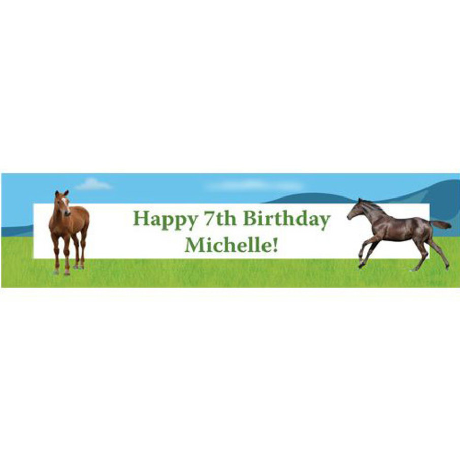 View larger image of Pony Party Personalized Banner (each)