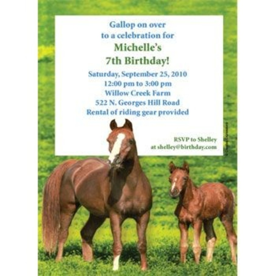 View larger image of Pony Party Personalized Invitation (each)