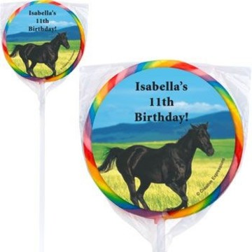 Pony Party Personalized Lollipops (pack of 12)