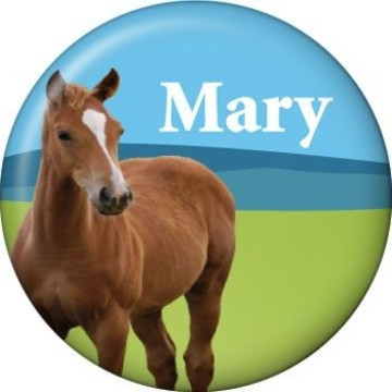 Pony Party Personalized Mini Magnet (each)