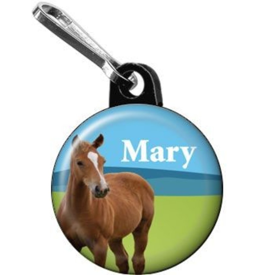 View larger image of Pony Party Personalized Mini Zipper Pull (each)