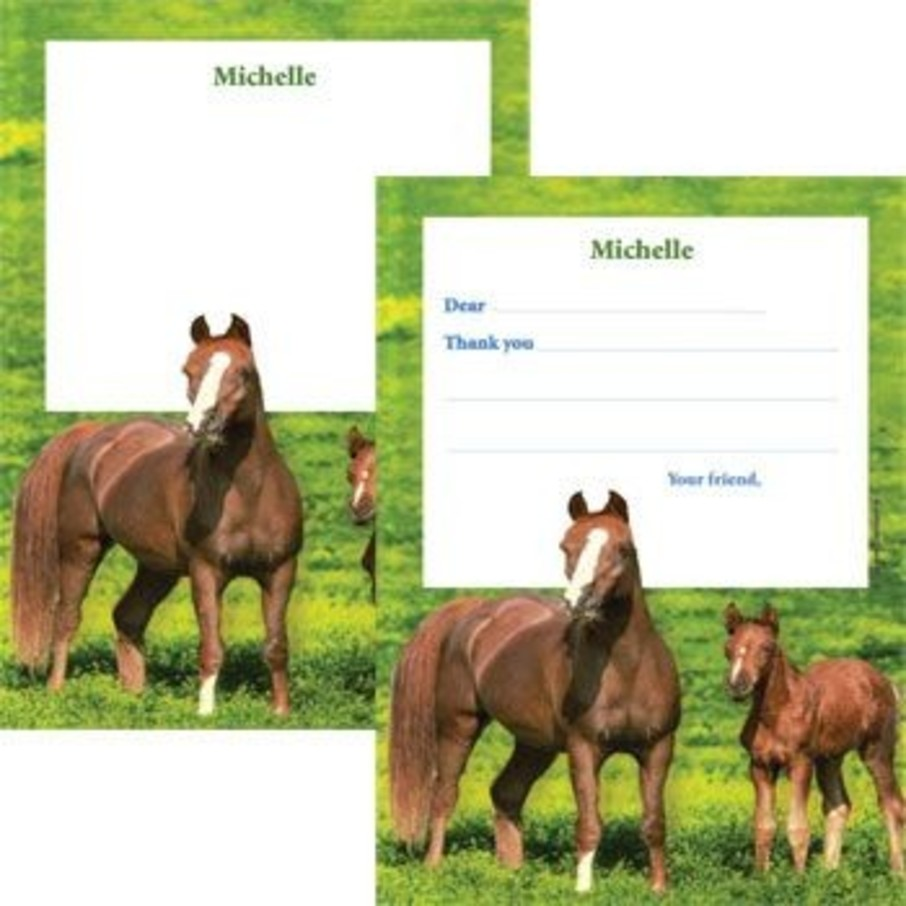 View larger image of Pony Party Personalized Thank You Note (each)